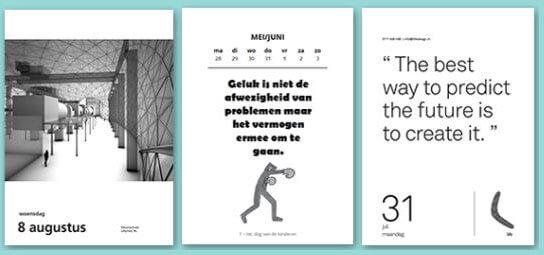 Wochenabreißkalender Drucken